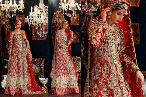 Rinaz Pakistani Designer Wedding Collection Red Bridal Dress