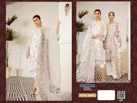 Rosemeen Pakistani Designer White Ethnic & Party Wear Dress