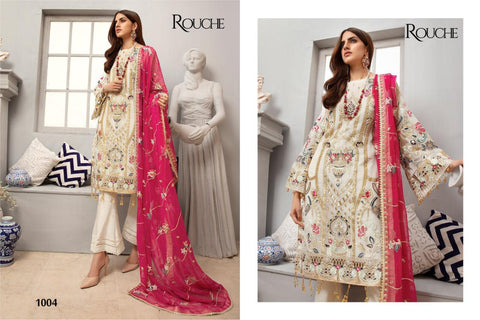 Rouche Pakistani Designer Wedding & Party Wear Dress - AliShaif