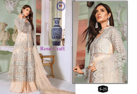 Rose Pakistani Designer Wedding & Party Wear Dress