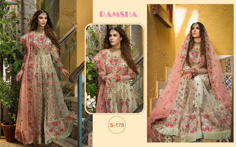 Ramsha Pakistani Designer Gown Style Party Wear Dress