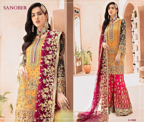 Sanober Pakistani Designer Wedding Collection Party Wear Dress