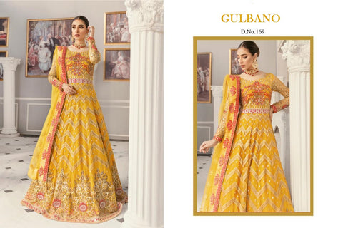 Gulbano Pakistani Designer Haldi Wedding & Party Wear Dress