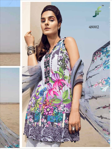 Sana Safinaz Pakistani Designer Embroidered Lawn Suit
