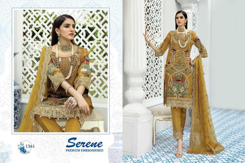 Serene Pakistani Designer Premium Wedding & Party Wear Dress - AliShaif