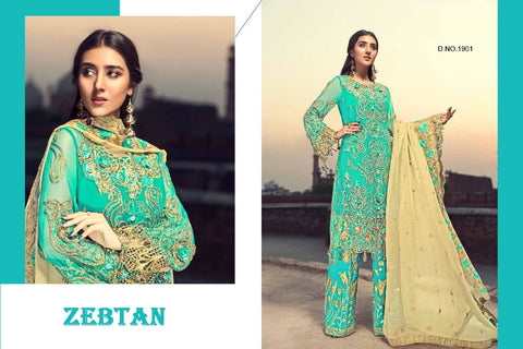 Zebtan Pakistani Designer Hit Wedding & Party Wear Dress