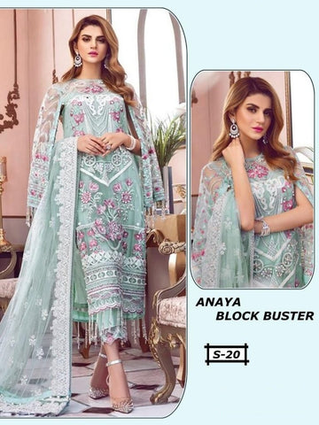 Anaya Pakistani Designer Block Buster Party Wear Embroidered Dress