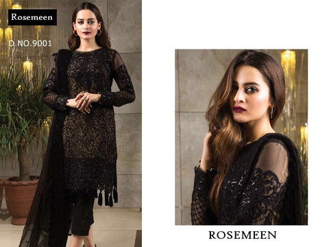 Rosemeen Super Hit Black Royal Party Wear Dress