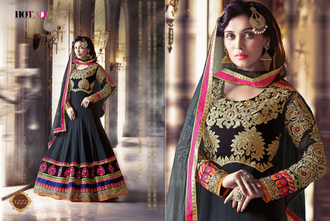 Hot Lady Designer Party Wear Heavy Embroidered Anarkali Suit - AliShaif