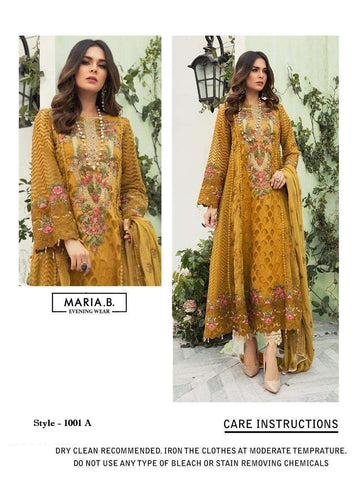 Maria B Pakistani Designer Hit Evening Wear Embroidered Dress