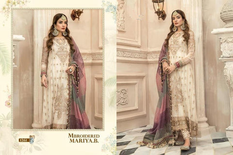 Mariya B Mbroidered Awesome Classic Party Wear Dress - AliShaif