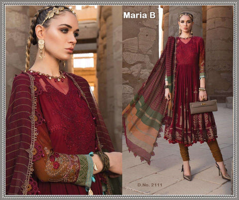 Maria B. Pakistani Designer Hit Embroidered Lawn Suit