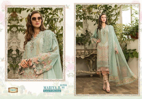 Mariya B Pakistani Designer Super Hit Embroidered Lawn Suit - AliShaif