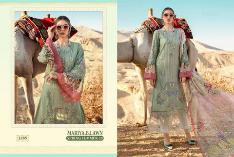 Mariya B Pakistani Designer Stylish Embroidered Lawn Suit