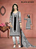 Daily Wear Black Queen Cotton Printed Shalwar Suit