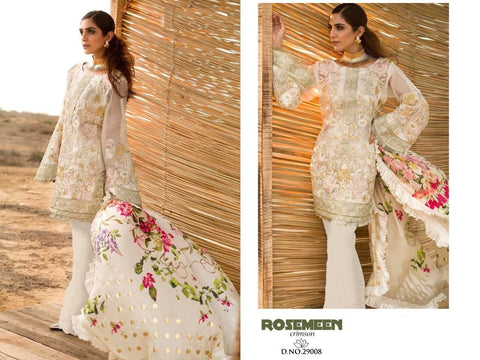 Rosemeen Crimson Hit Pakistani Designer Embroidered Dress
