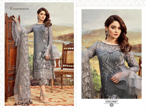 Rosemeen Premium Gorgeous Party Wear Pakistani Designer Dress