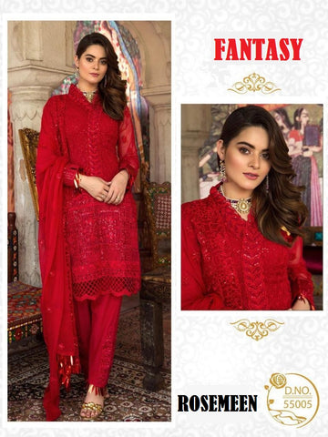 Rosemeen Beautiful  Hit Pakistani Designer Festive Wear Embroidered Dress