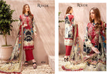 Rouche Pakistani Designer Pure Jam Satin Embroidered Lawn Suit