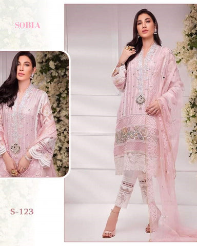 Sobia Pakistani Designer Hit Pink Party Wear Dress