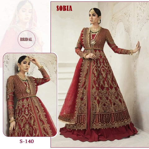 Sobia Bridal Designer Red Luxury Wedding Dress