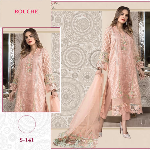 Rouche Pakistani Designer Festive & Party Wear Dress