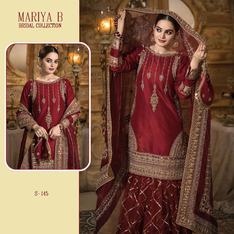Mariya B Pakistani Designer Beautiful Hit Wedding & Party Wear Dress
