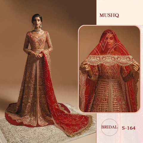 Mushq Pakistani Designer Bridal Hit Gown Style Dress