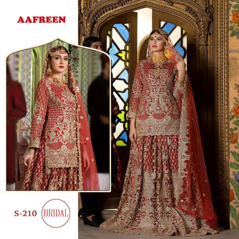 Aafreen Bridal Designer Red Luxury Wedding Dress