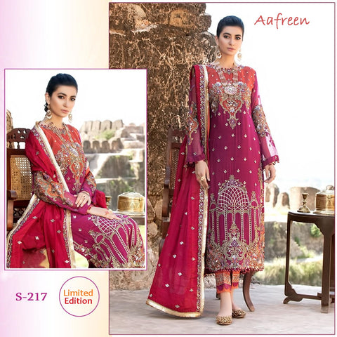 Aafreen Pakistani Designer Hit Embroidered Party Wear Dress