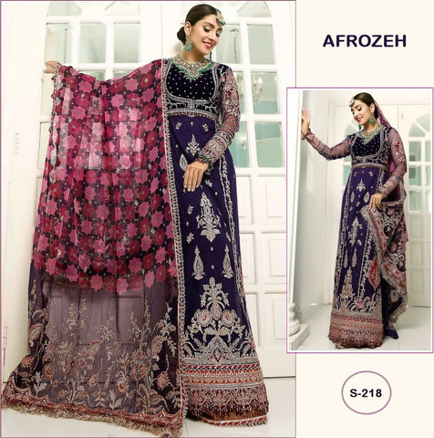 Afrozeh Pakistani Designer Hit Wedding & Party Wear Dress