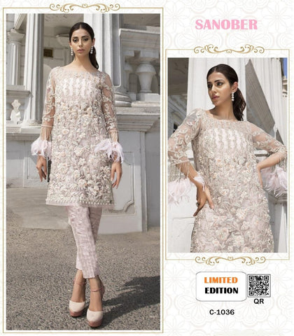 Sanober Pakistani Designer Party Wear Embroidered Dress