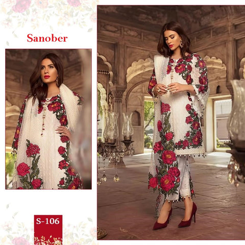 Sanober Pakistani Designer Hit Classic Embroidered Dress