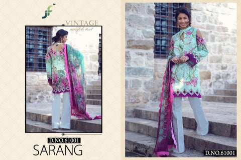 Sarang Hit Pakistani Designer Embroidered Lawn Suit