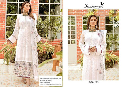 Serene Pakistani Designer White Wedding & Party Wear Dress