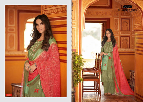 Shahnaz Pakistani Designer Pure Pashmina Khatli Work Dress - AliShaif