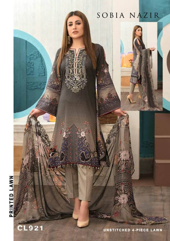 Sobia Nazir Pakistani Designer Luxury Printed Lawn Cotton Suit - AliShaif