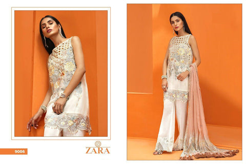 Zara Pakistani Designer Party Wear Embroidered Dress - AliShaif