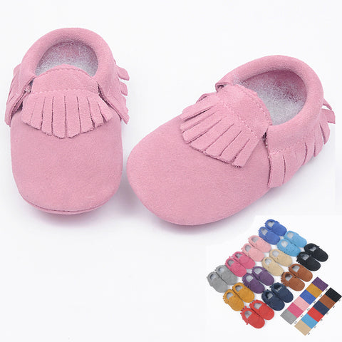 Suede Genuine Leather soft baby shoes