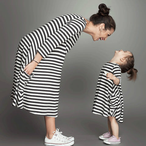 Striped Family Look Matching Clothes