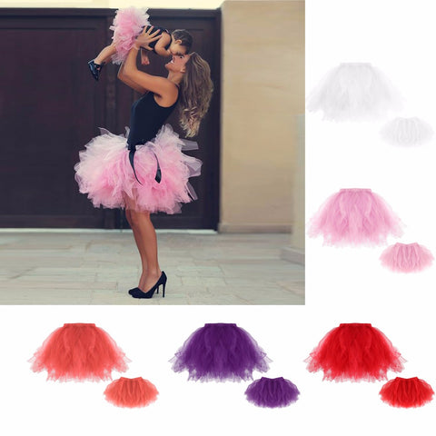 Family Matching Clothes Tutu Skirt