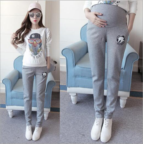 High Waist Cotton Casual Maternity Pants