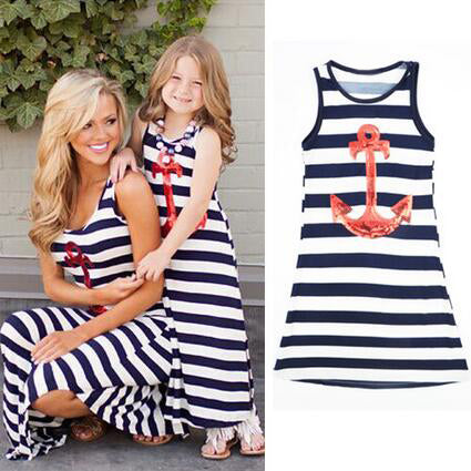 Navy Mother Daughter Dresses