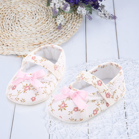 Floral First Walkers Soft Sole