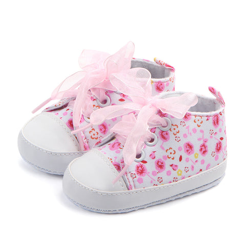 Prewalker Print Lace Baby Shoes