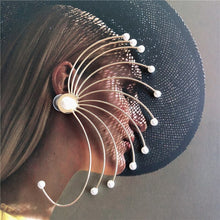 sale wind runway looks super pearl earring female exaggerated personality sexy web celebrity fashion sexy hanging ears