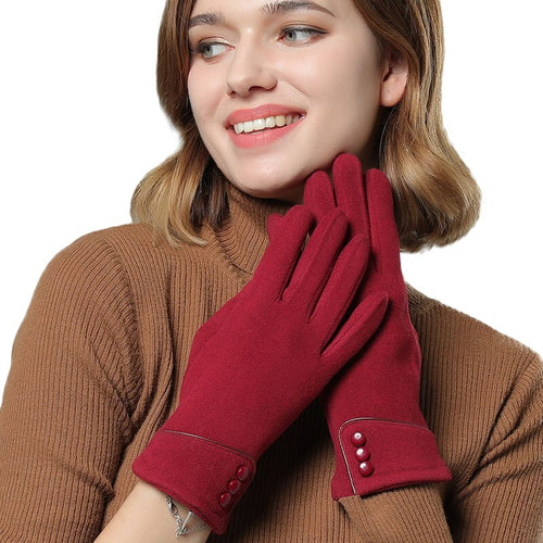 Sale Sparsil Women Winter Velvet Touch Screen Gloves Warm Fleece Full Finger Cashmere Mittens Windproof Elegant Glove Female Girl