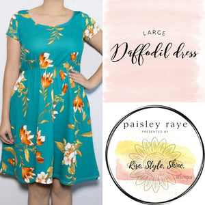 Daffodil Dress-  Large