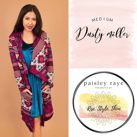 Dusty Miller Cardigan- Medium