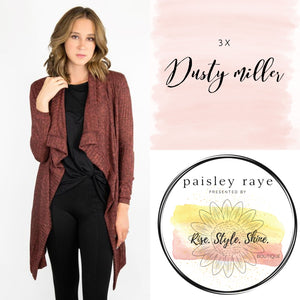 Dusty Miller Cardigan- 3X